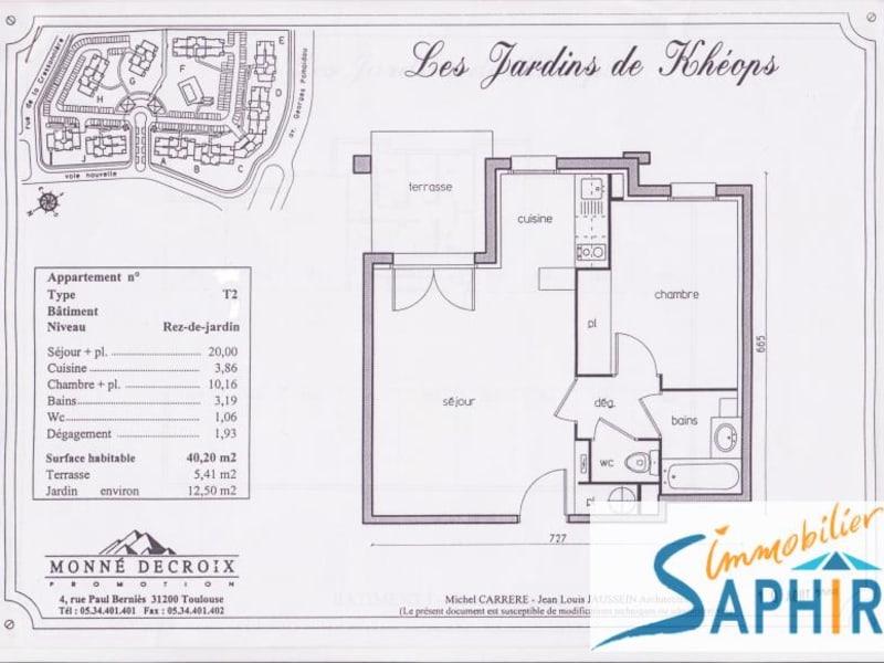 Sale apartment Cugnaux 116600€ - Picture 2