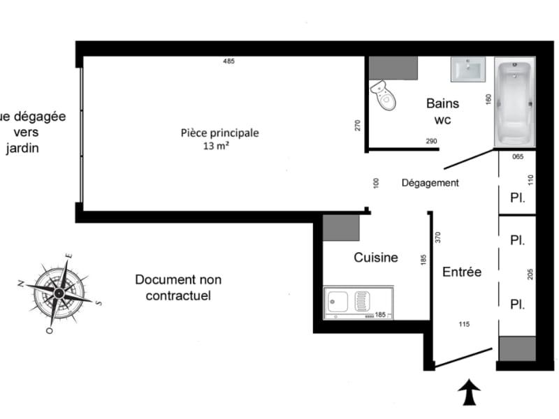 Rental apartment Paris 11ème 760€ CC - Picture 2