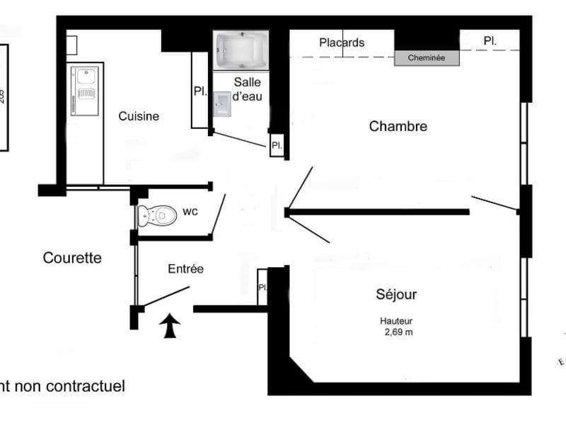 Vente appartement Paris 11ème 415000€ - Photo 2