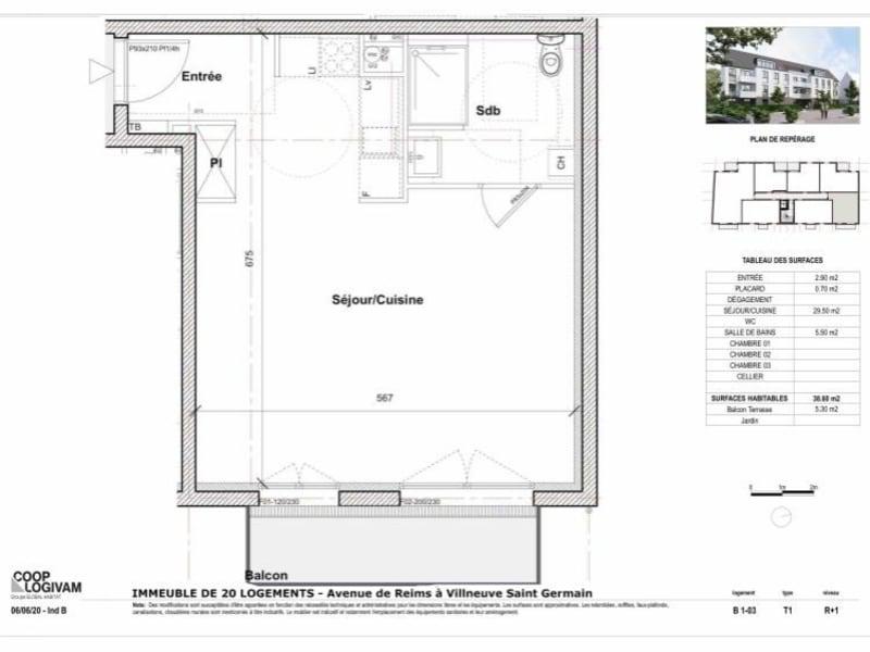 Sale apartment Soissons 96000€ - Picture 2