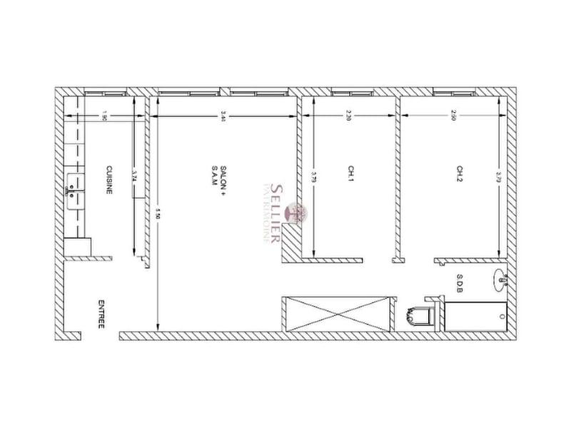 Vendita appartamento Paris 13ème 552000€ - Fotografia 14