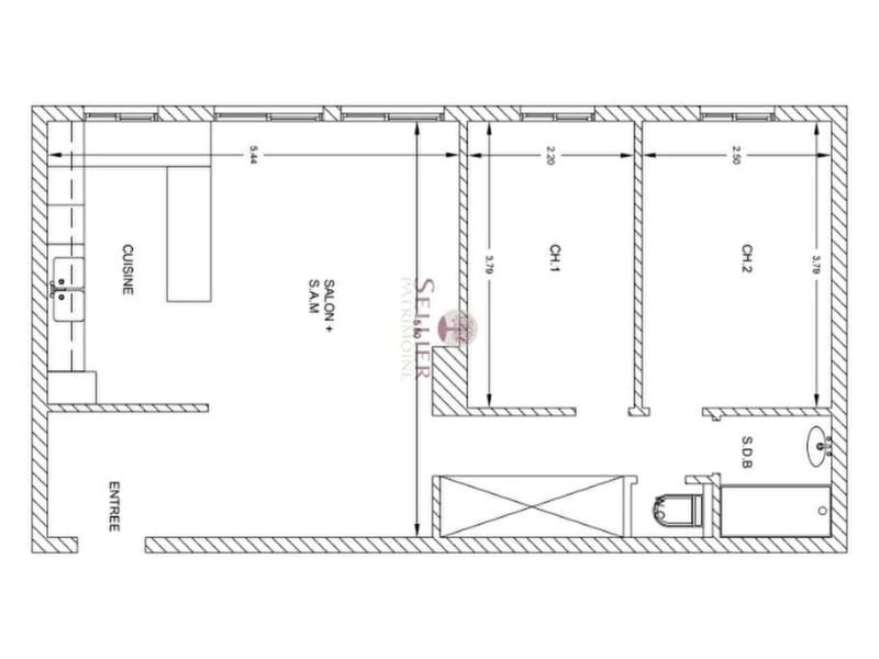 Vendita appartamento Paris 13ème 552000€ - Fotografia 15