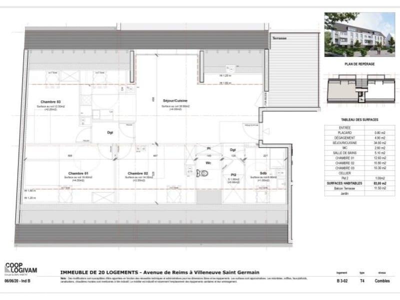 Vente appartement Villeneuve st germain 216968€ - Photo 2