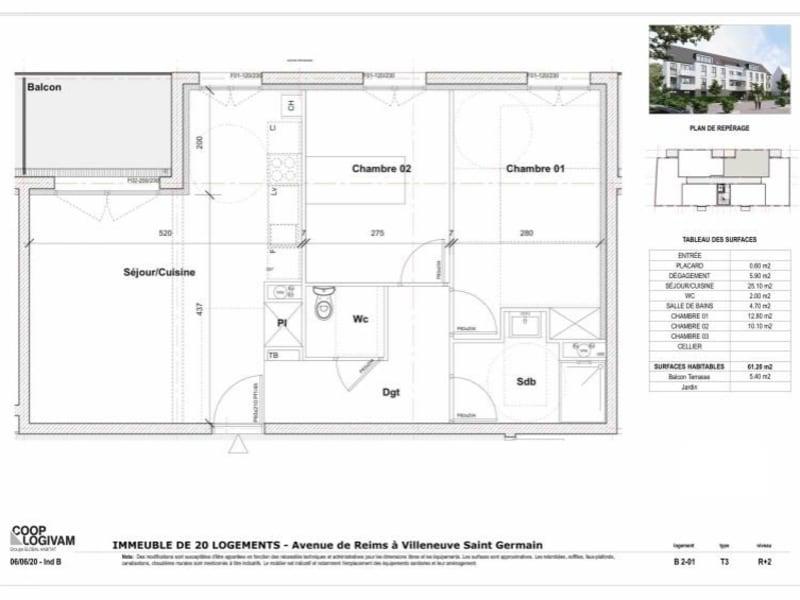 Sale apartment Villeneuve st germain 154732€ - Picture 2