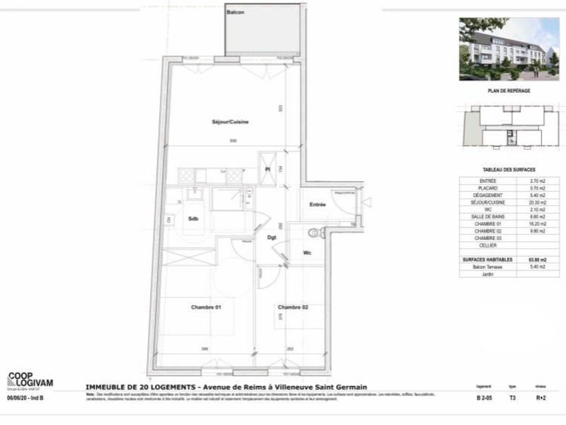 Sale apartment Villeneuve st germain 151563€ - Picture 2