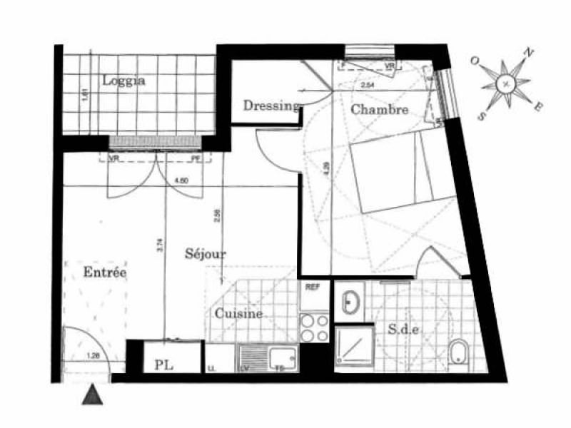 Rental apartment Palaiseau 776€ CC - Picture 5