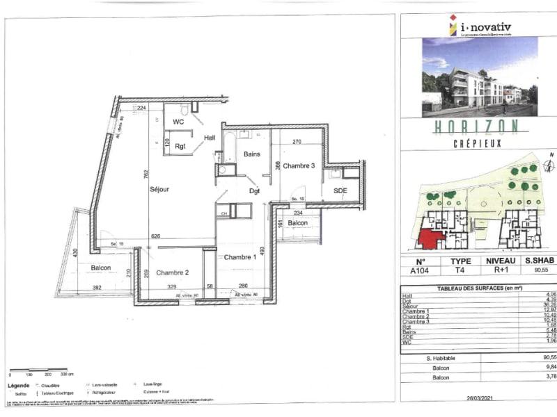 Vente appartement Crepieux 405000€ - Photo 3