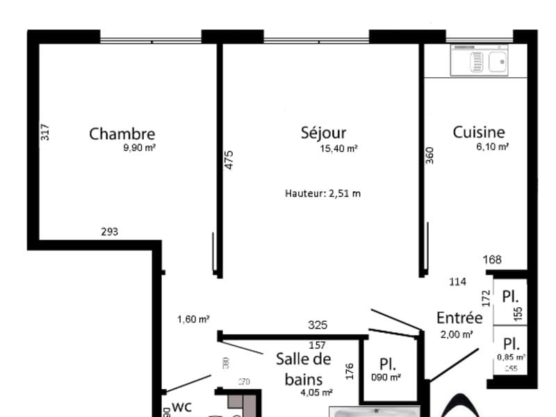 Rental apartment Paris 12ème 1020€ CC - Picture 2