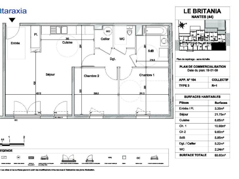 Alquiler  apartamento Nantes 689€ CC - Fotografía 1