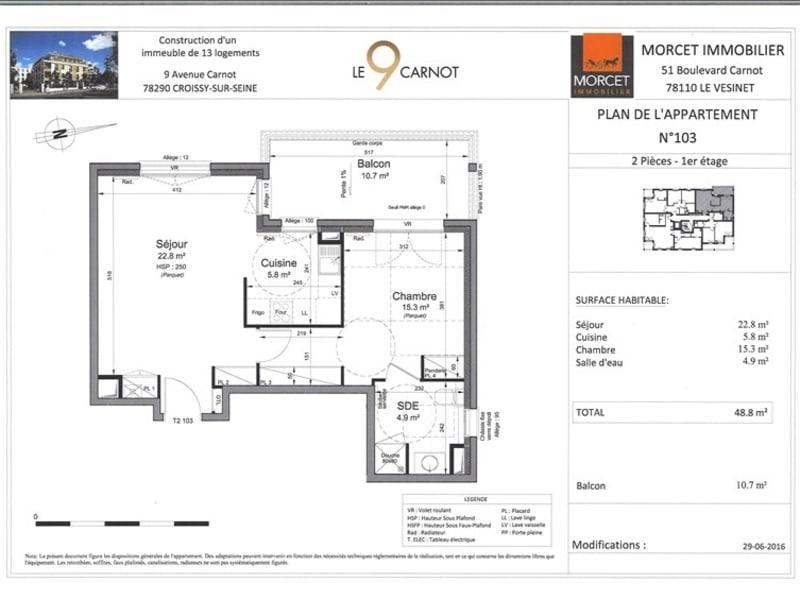 Rental apartment Croissy sur seine 1050€ CC - Picture 9
