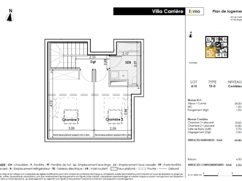 Vente appartement Blagnac 284 900€ - Photo 4