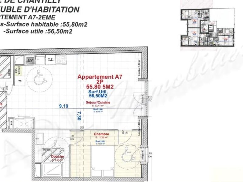 Sale apartment Chantilly 273000€ - Picture 2