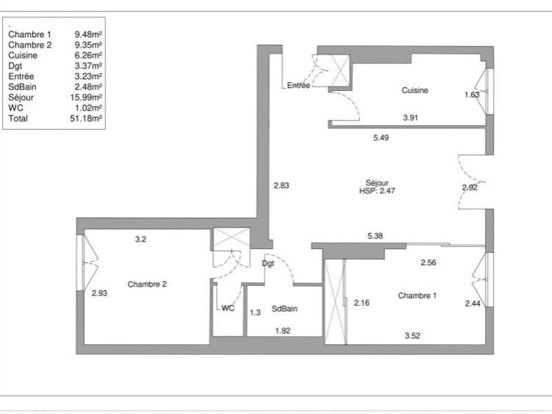 Vente appartement Paris 15ème 546000€ - Photo 2