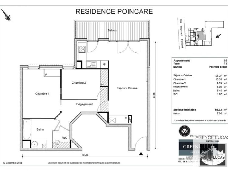 Rental apartment Nanterre 1220€ CC - Picture 7