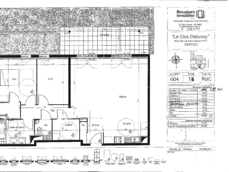 Rental apartment Vertou 1044,54€ CC - Picture 2
