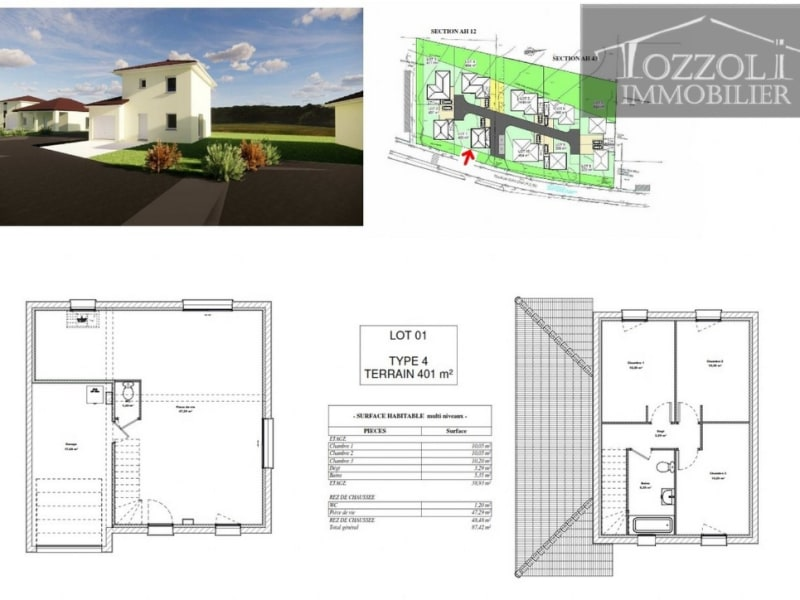 Sale house / villa Rochetoirin 238117,50€ - Picture 4