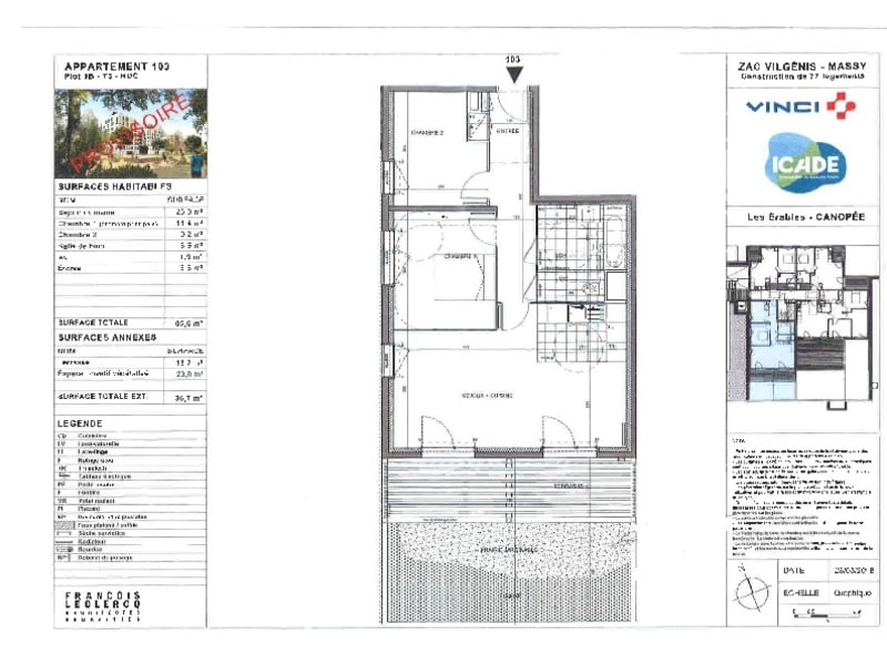 Vente appartement Massy 334000€ - Photo 19