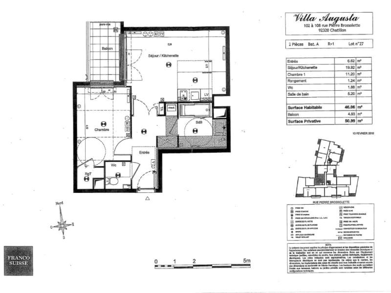 Rental apartment Chatillon 1100€ CC - Picture 16