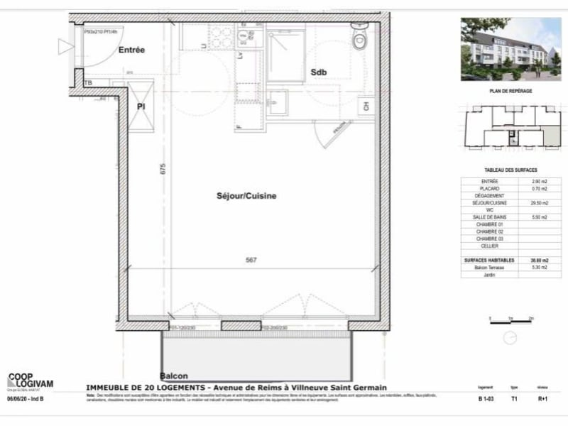 Sale apartment Soissons 96000€ - Picture 4