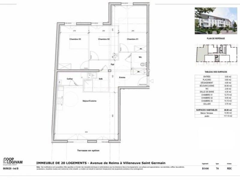 Sale apartment Soissons 224849€ - Picture 4