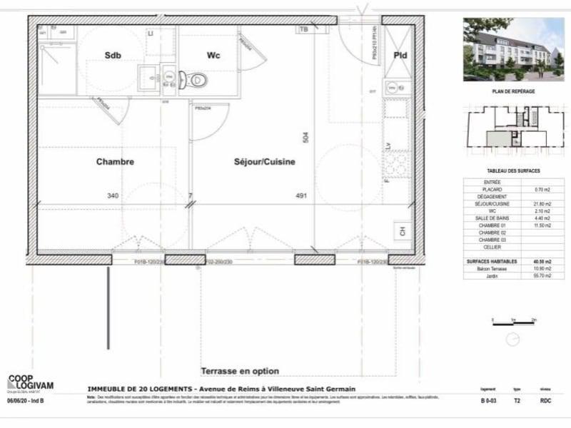 Sale apartment Soissons 103341€ - Picture 4
