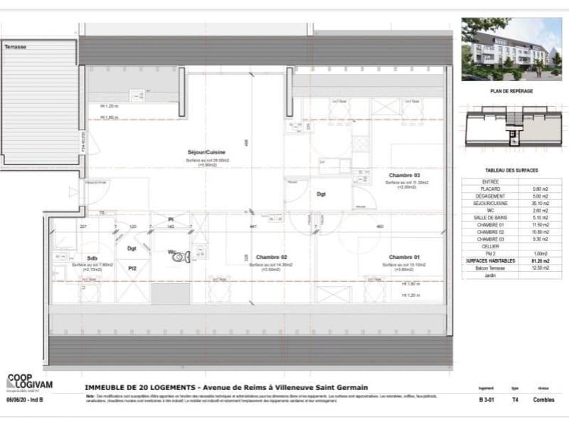 Sale apartment Villeneuve st germain 213114€ - Picture 4