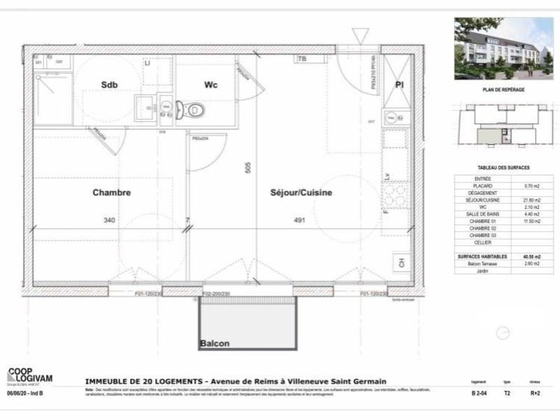 Sale apartment Villeneuve st germain 101168€ - Picture 4