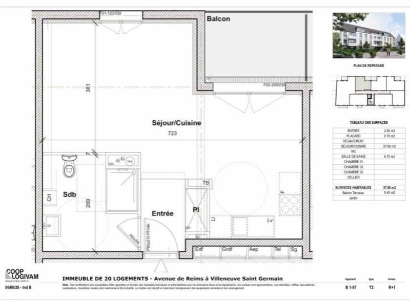 Sale apartment Villeneuve st germain 93577€ - Picture 4