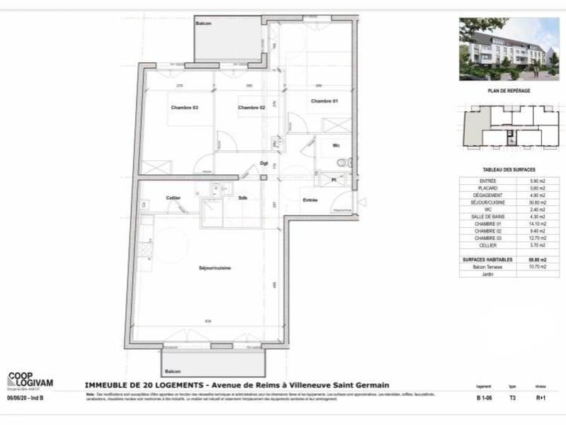 Sale apartment Villeneuve st germain 219155€ - Picture 4
