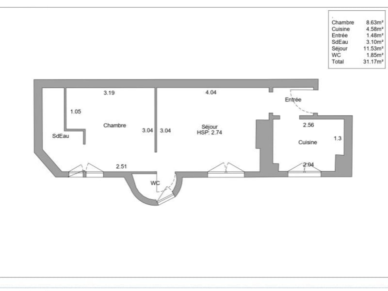 Vente appartement Paris 15ème 347550€ - Photo 11
