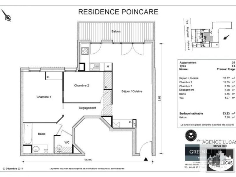 Rental apartment Nanterre 1220€ CC - Picture 14