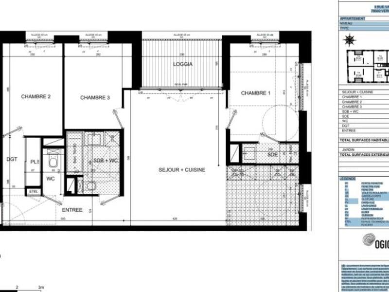 Vente appartement Versailles 670000€ - Photo 5