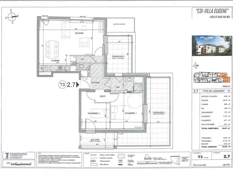 New home sale apartment St marc sur mer  - Picture 7