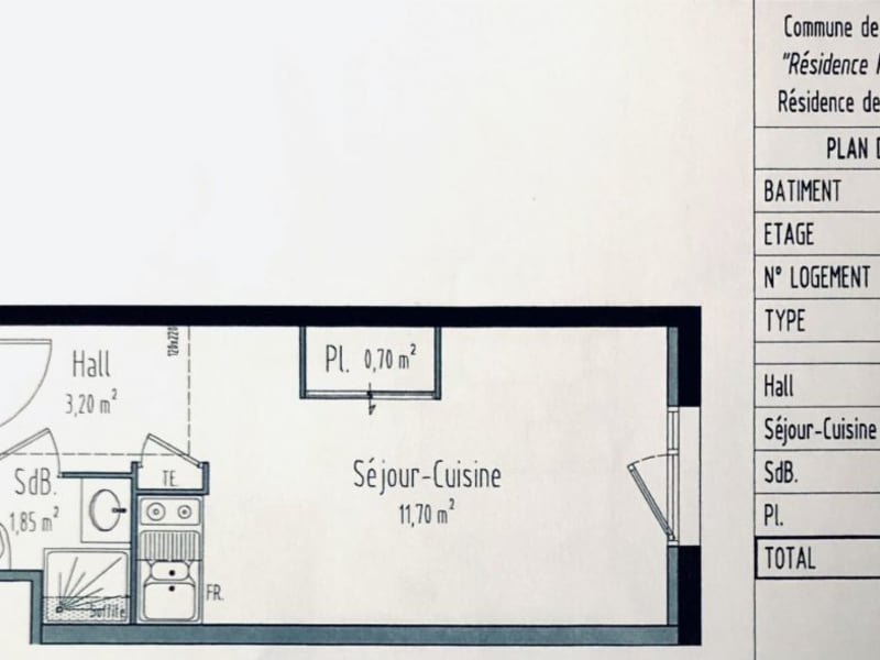 Venta  apartamento Bron 69500€ - Fotografía 2