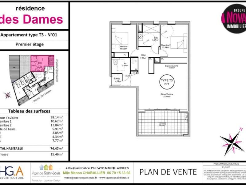 Sale apartment Marsillargues 242500€ - Picture 9
