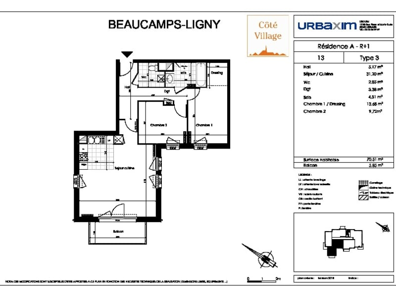 Sale apartment Beaucamps ligny 224000€ - Picture 2