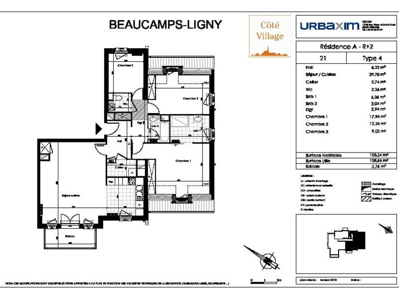 Sale apartment Beaucamps ligny 307000€ - Picture 2