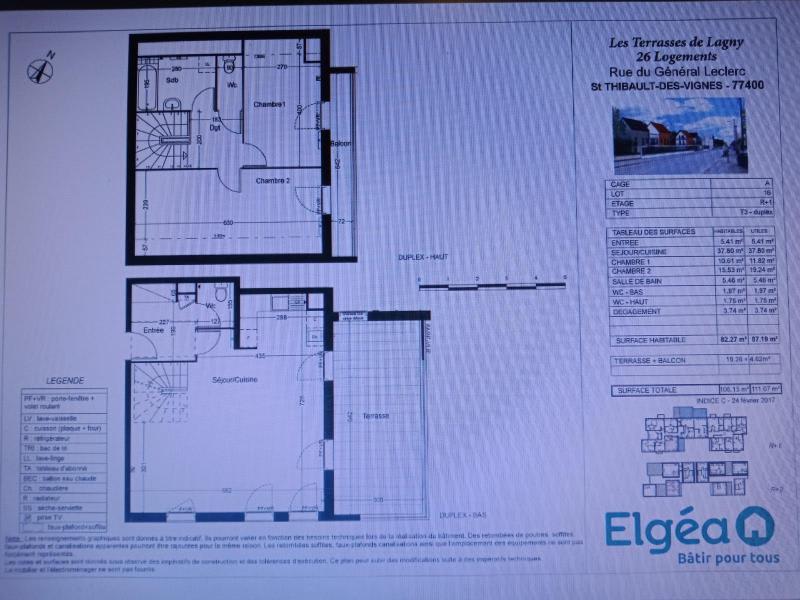 Sale apartment Saint thibault des vignes 313500€ - Picture 1