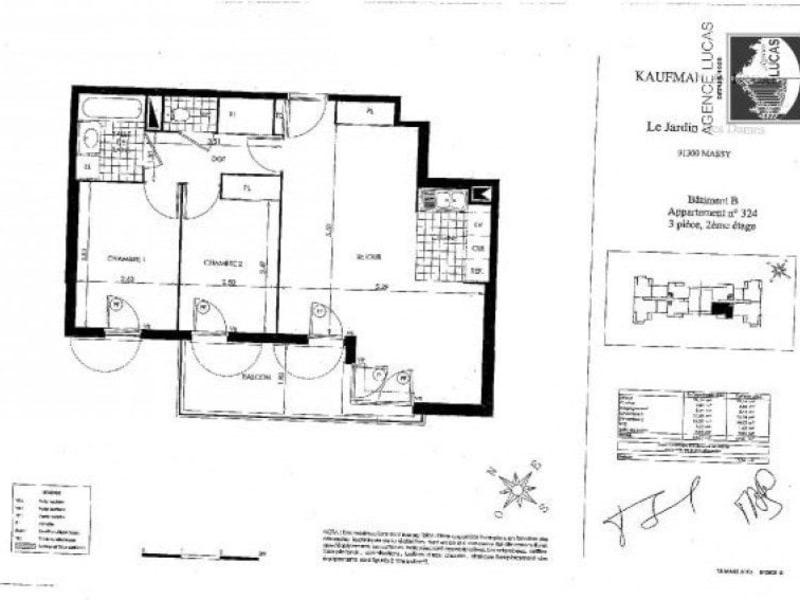 Rental apartment Massy 1190€ CC - Picture 5