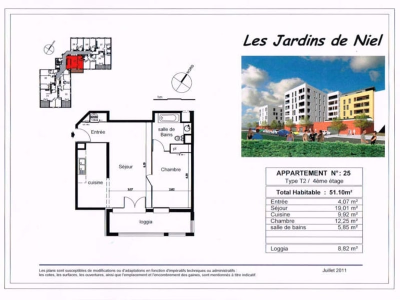 Location appartement Toulouse 775€ CC - Photo 2