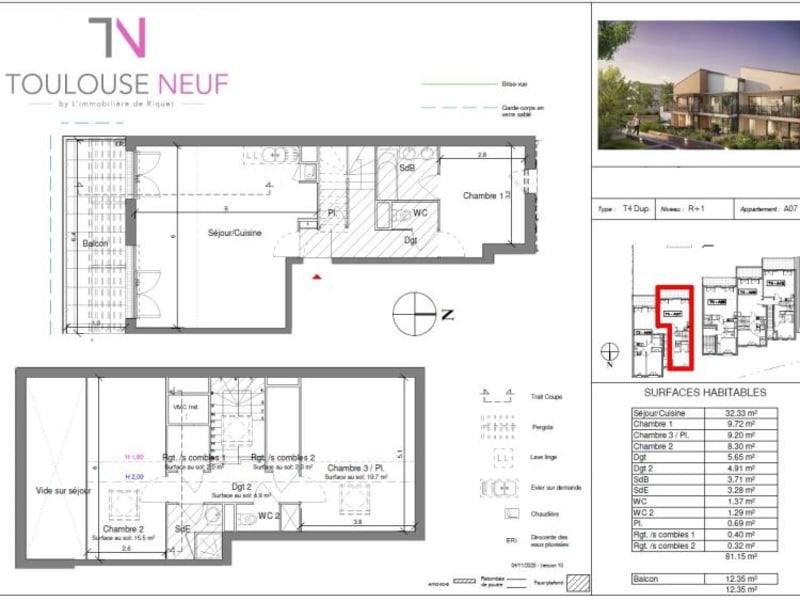 Vente appartement Toulouse 419500€ - Photo 4