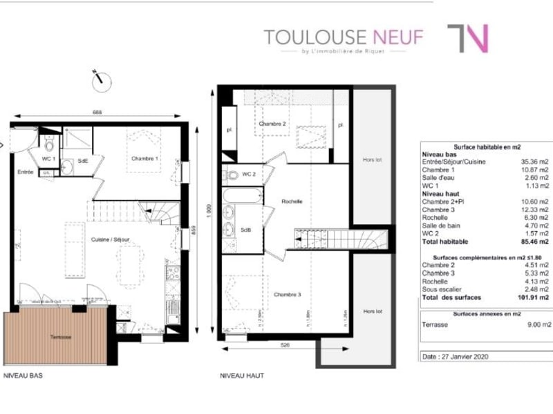 Vente appartement Toulouse 374900€ - Photo 10