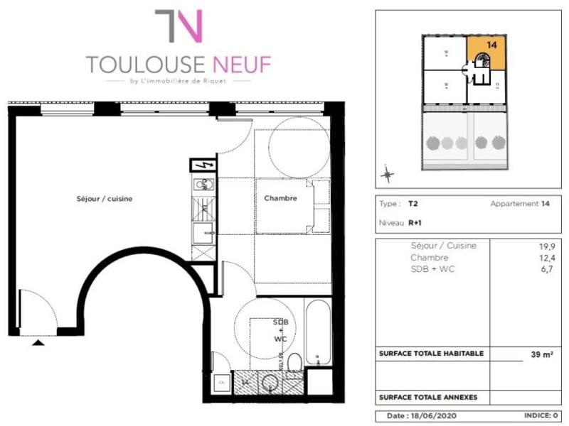 Vente appartement Toulouse 234000€ - Photo 7