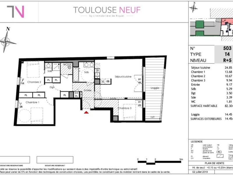 Vente appartement Toulouse 415000€ - Photo 7