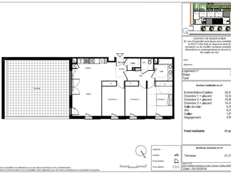 Vente appartement Toulouse 335000€ - Photo 7