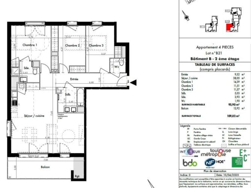 Vente appartement Colomiers 256500€ - Photo 7
