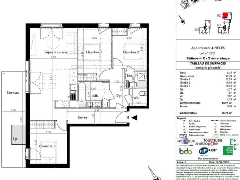 Vente appartement Colomiers 256500€ - Photo 8