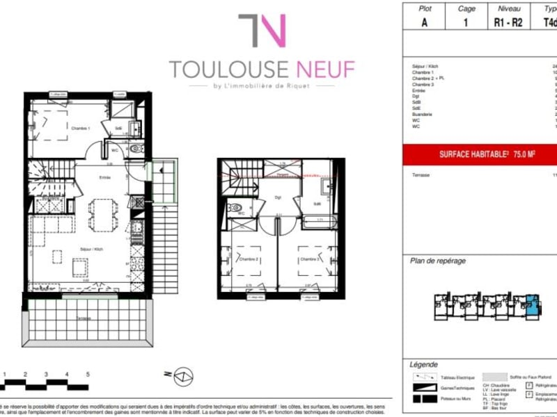 Vente appartement Toulouse 294000€ - Photo 10