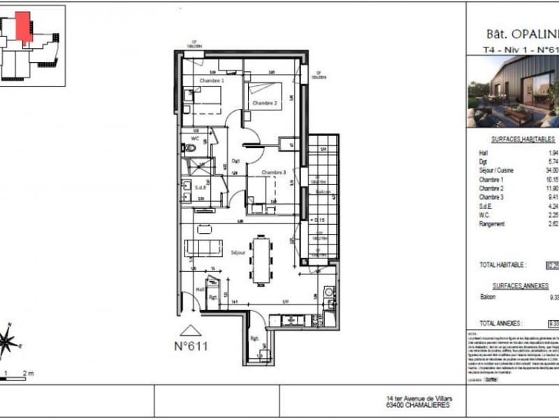 Vente appartement Chamalieres 312000€ - Photo 5