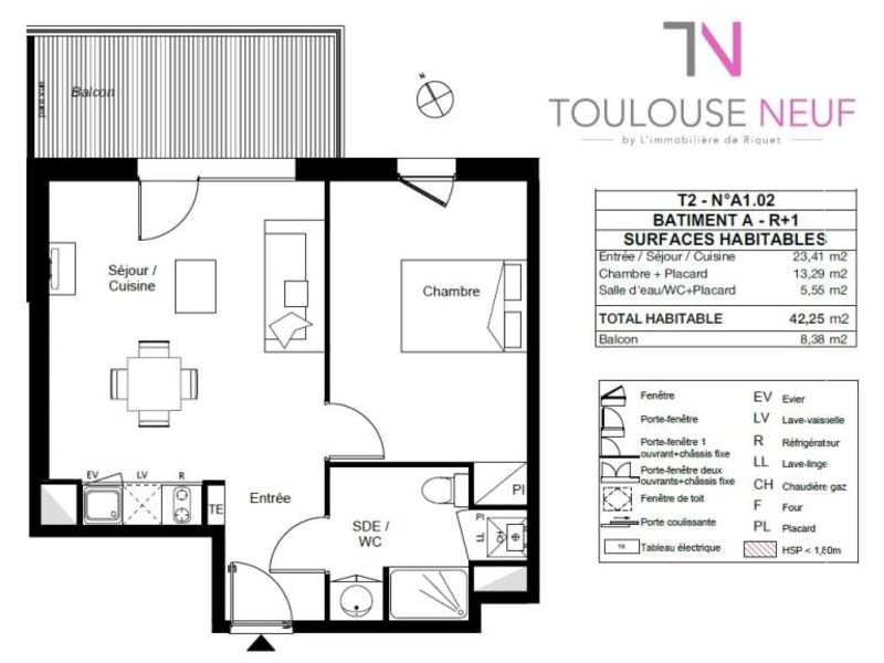 Vente appartement Toulouse 227000€ - Photo 10
